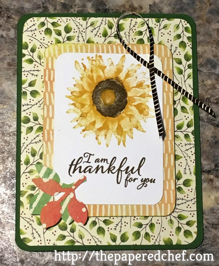 I'm Thankful for You - Painted Harvest Card