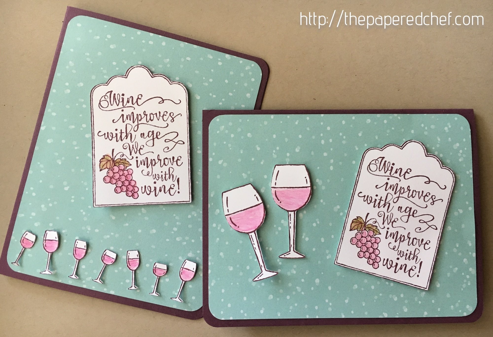 Half Full Wine Cards