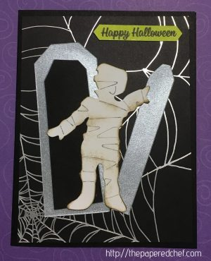 Mummy with Tomb Card