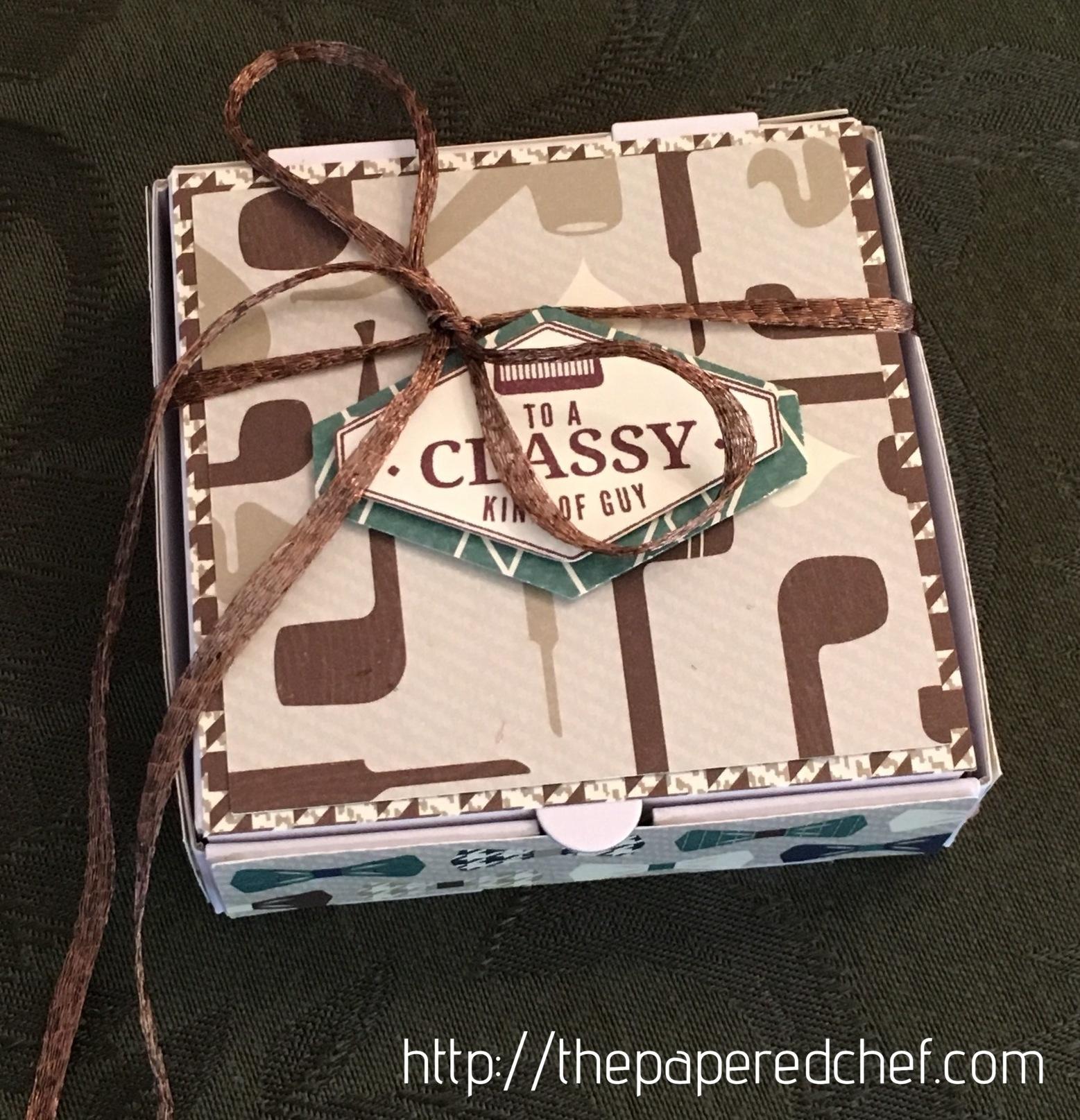 Classy Guy Mini Pizza Box - True Gentleman