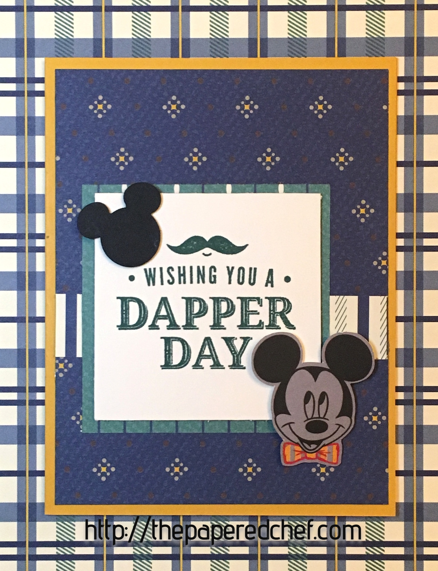 Dapper Day Truly Tailored Mickey Card