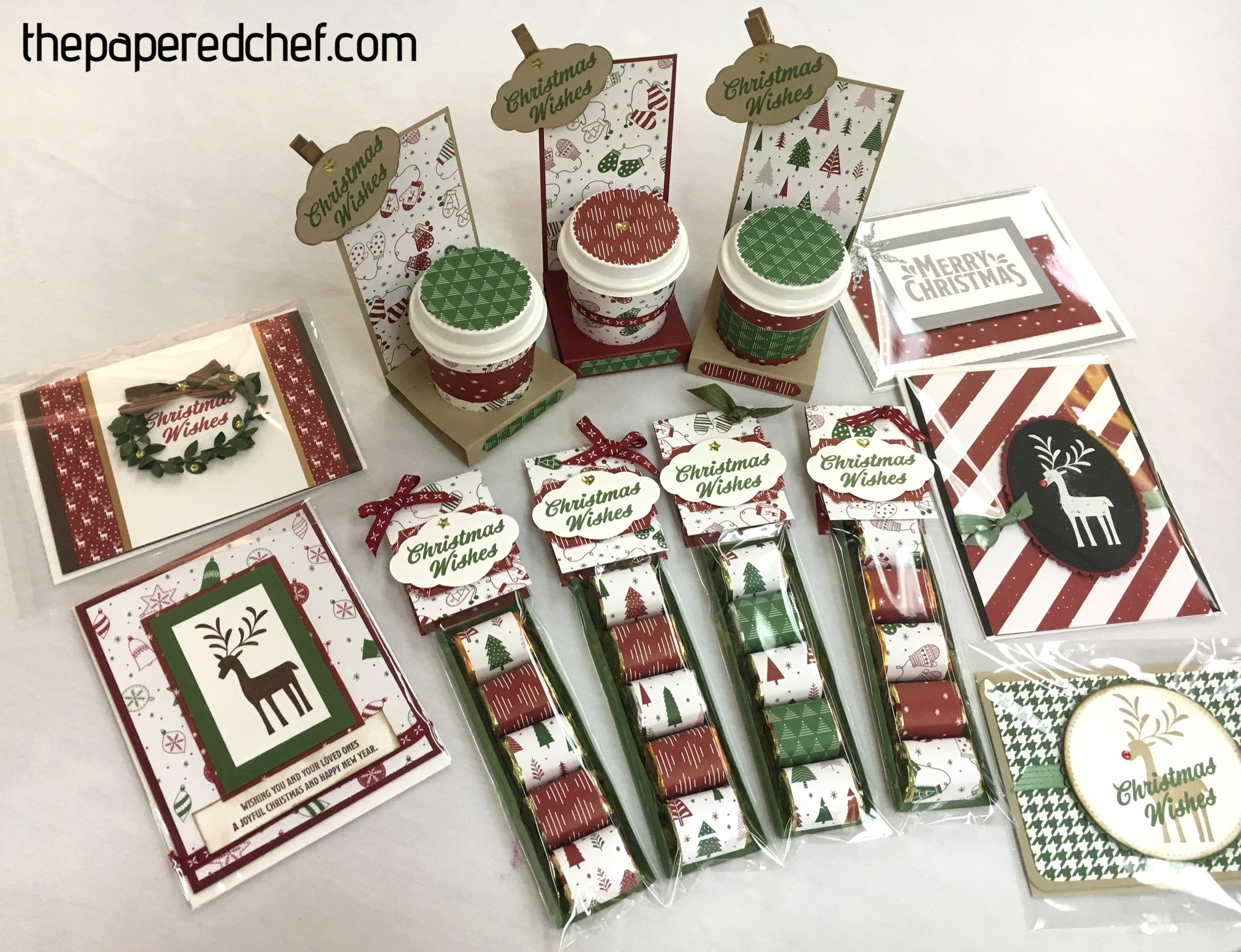 Projects created with the Merry Mistletoe stamp set & Be Merry dsp
