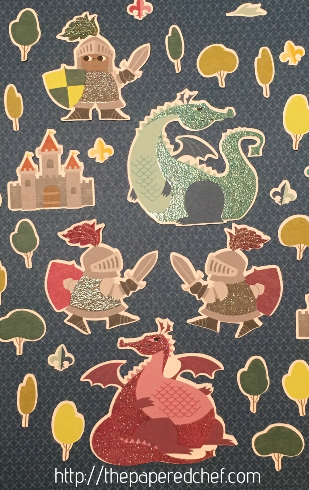 Dragons, Knights and Castles cut out with the Brother Scan N' Cut