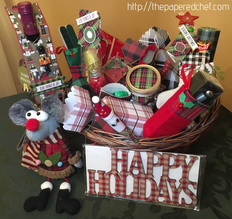 Plaid Gift Basket