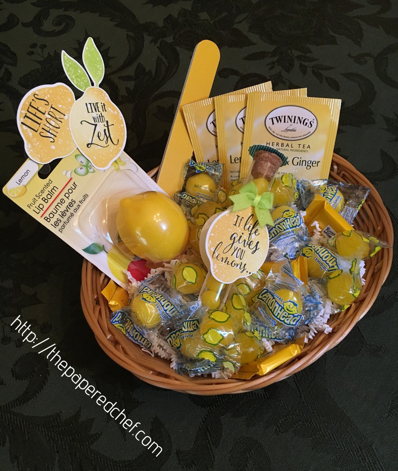Lemon Zest Basket