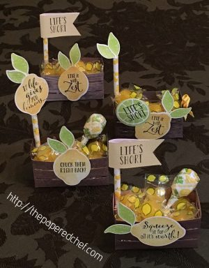 Lemon Zest Wood Crate Treats