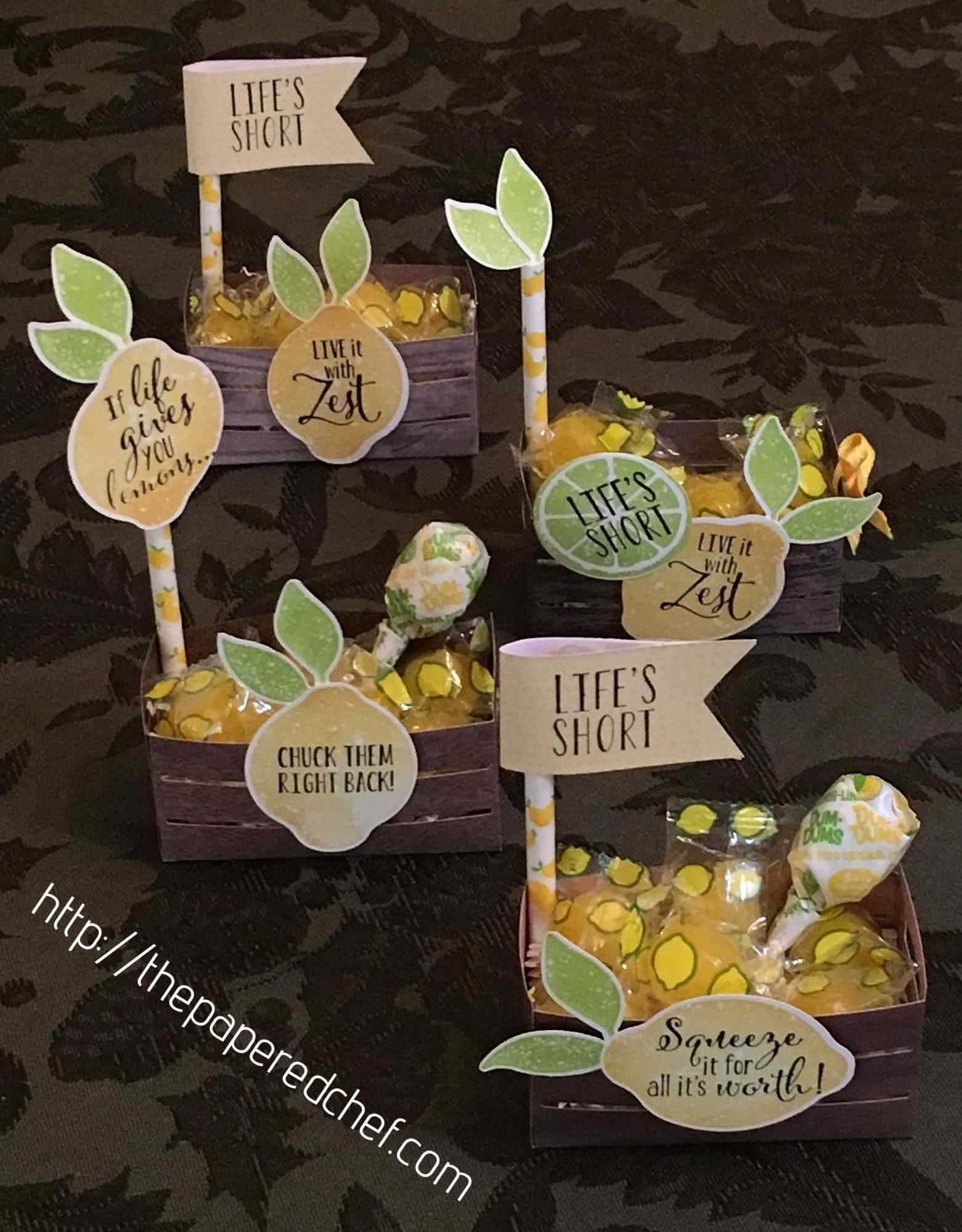 Lemon Zest Wood Crate Treats