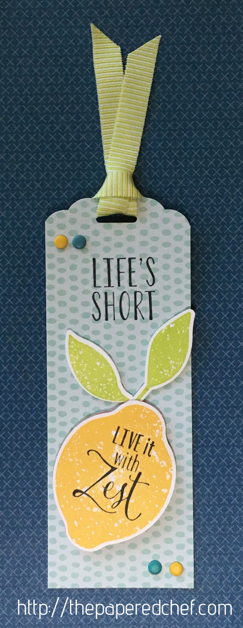 Life's Short - Live it with Zest Bookmark