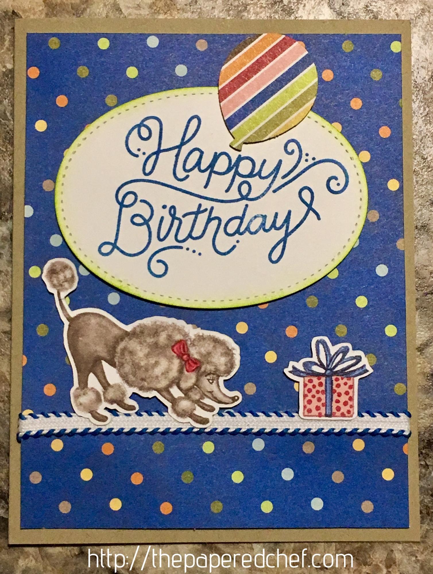 Birthday Memories Poodle Card