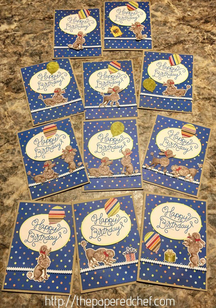 Birthday Memories Poodle Cards