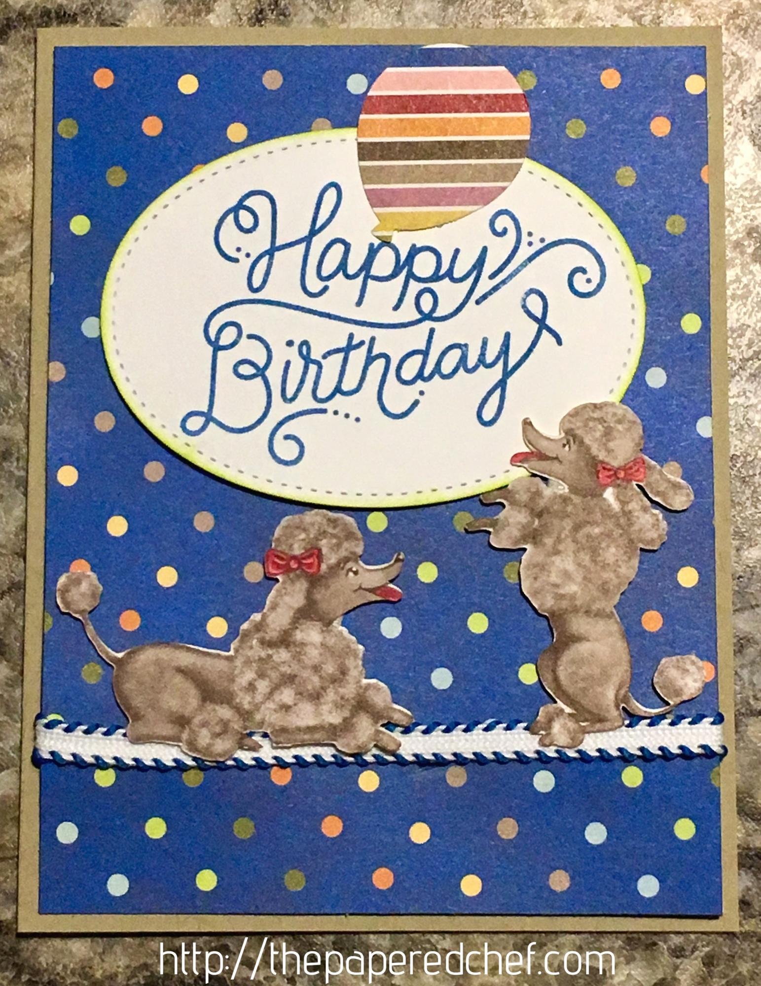 Birthday Memories - Poodle Card