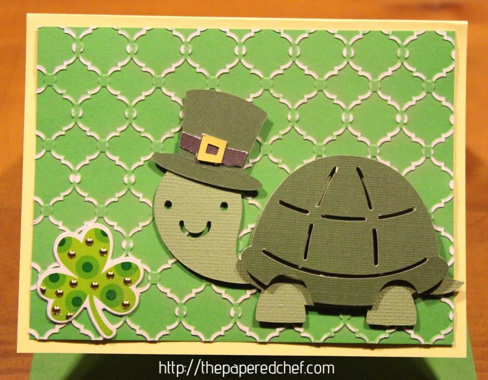 St. Patrick's Day Turtle Card created with the Cricut