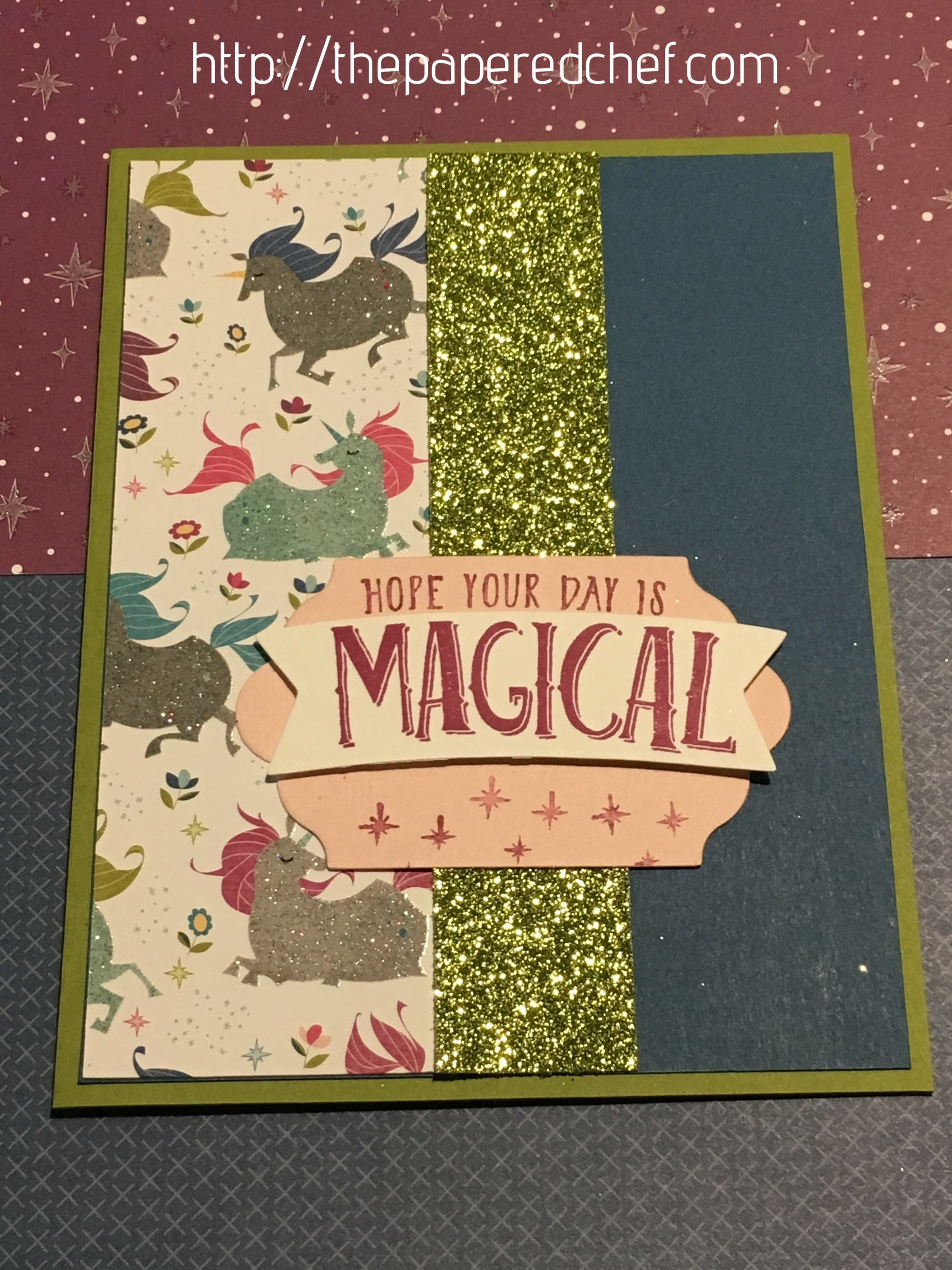 Magical Unicorn Card - Myths & Magic by Stampin' Up