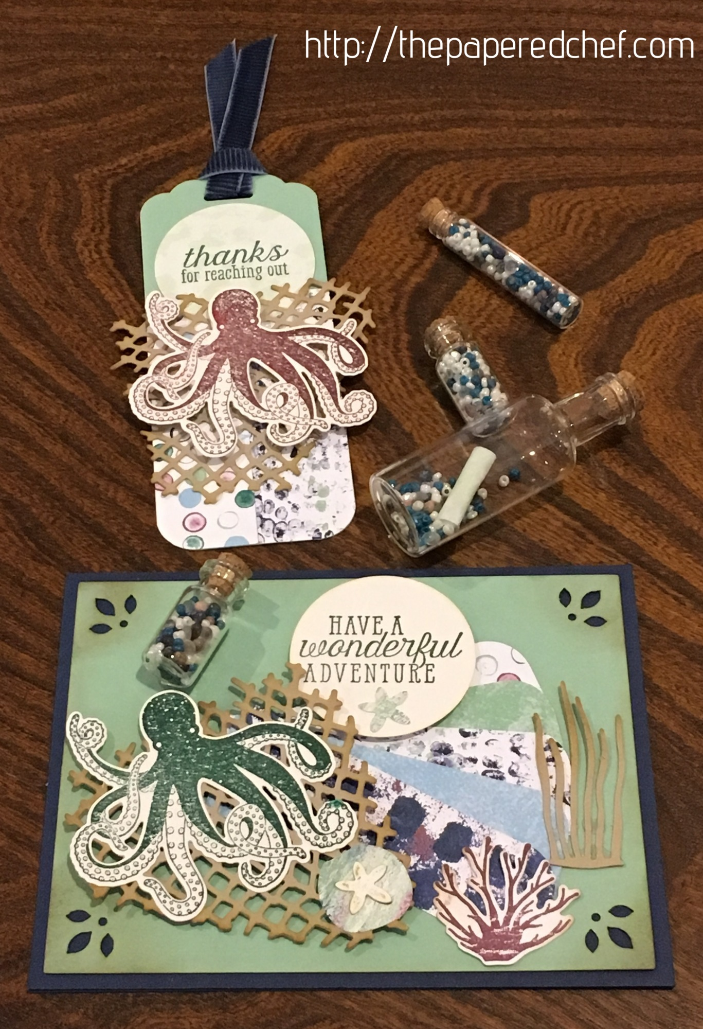 Tranquil Textures Card and Bookmark