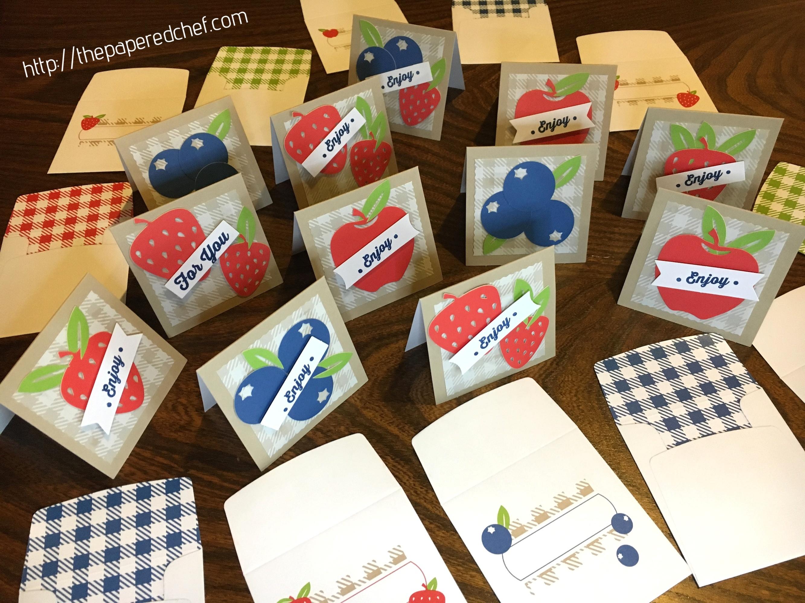 Picnic Paradise Paper Pumpkin Kit - Mini Cards