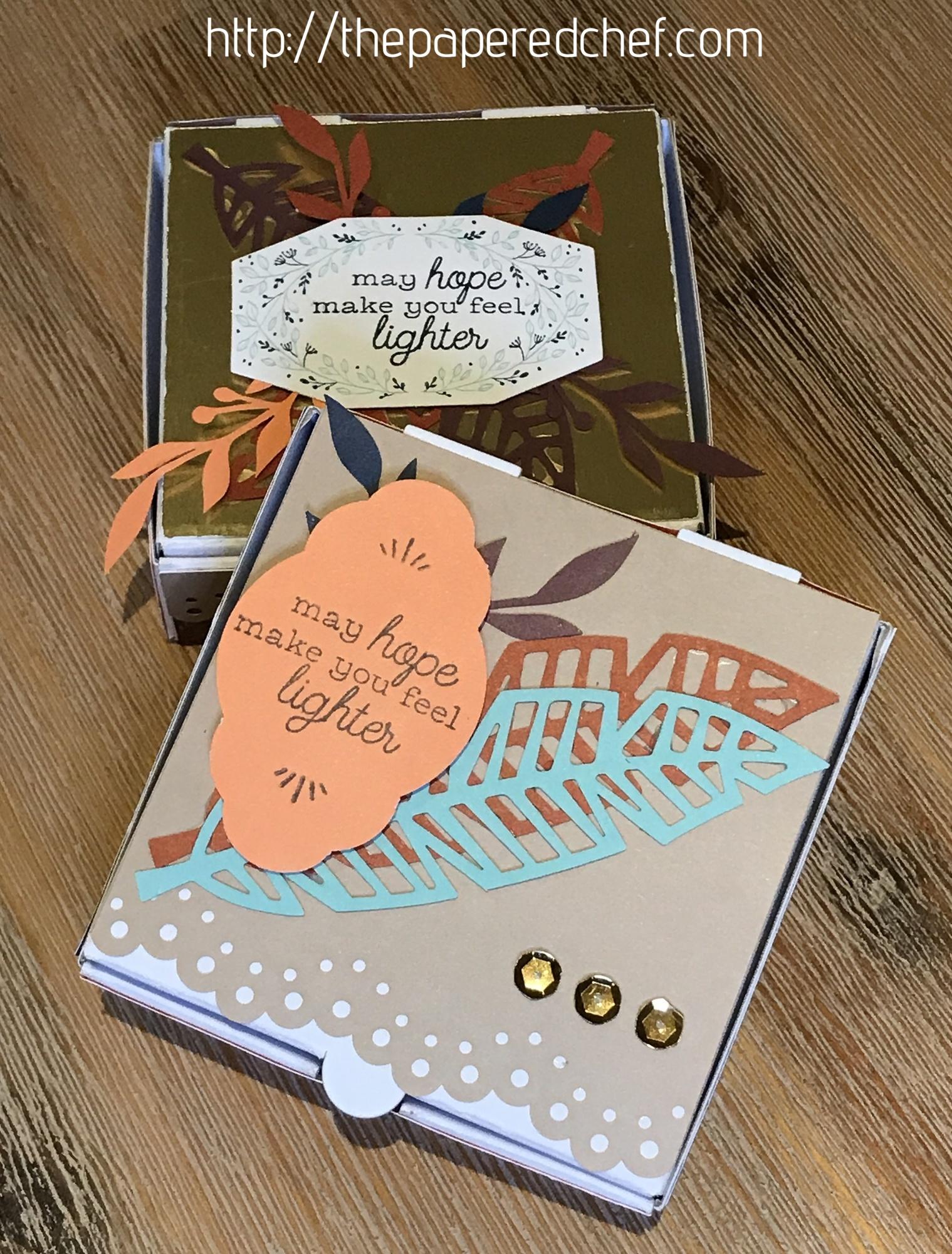 Friends of a Feather Mini Pizza Boxes - Paper Pumpkin