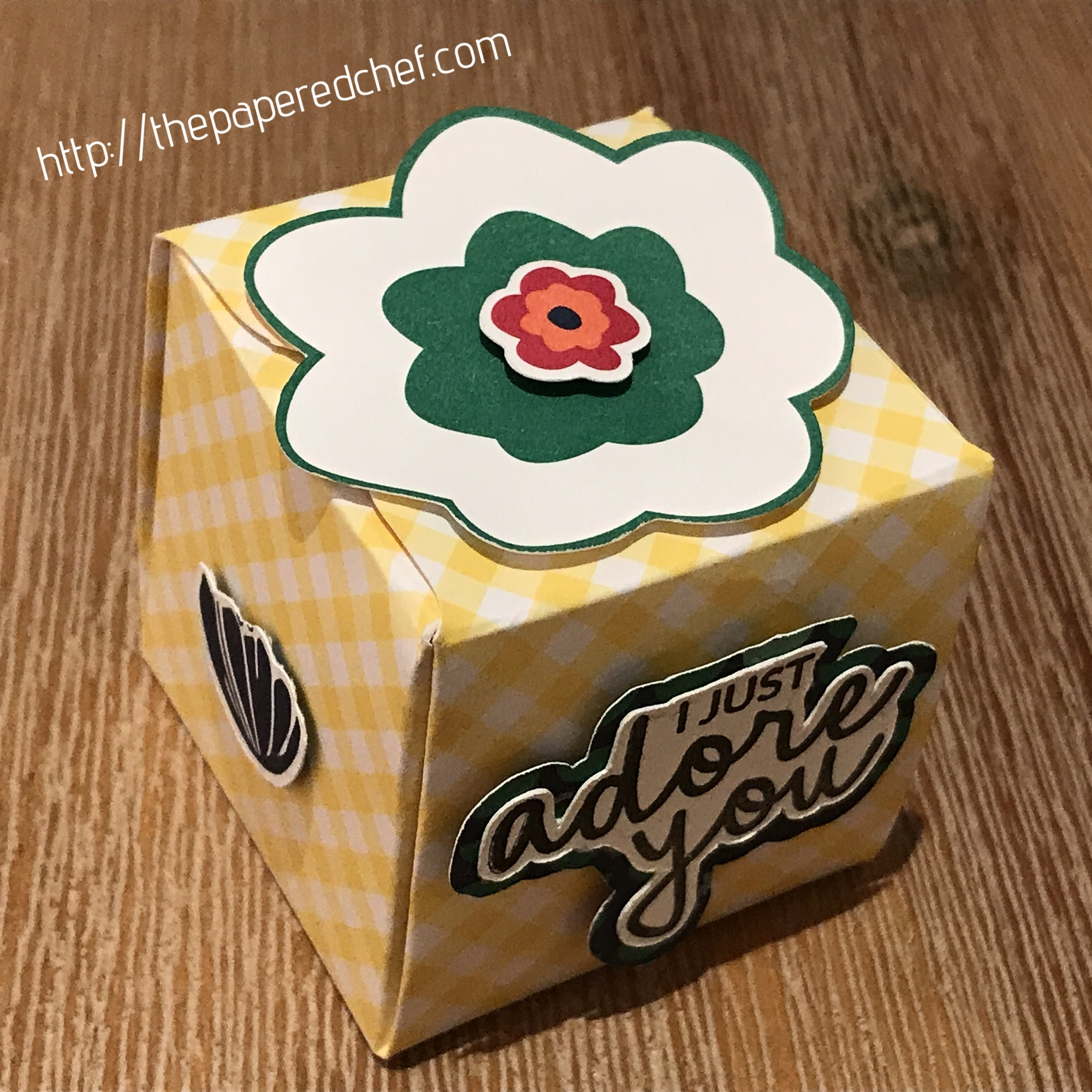 Happiness Blooms - Punch Board Box