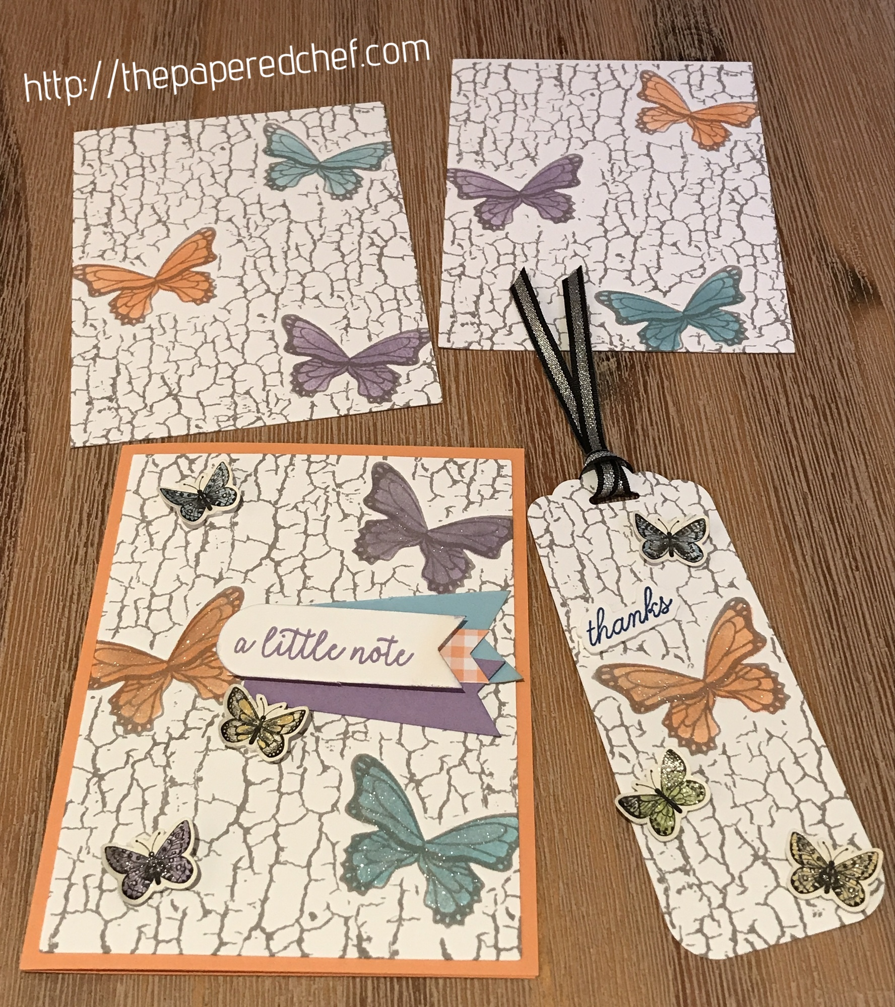 Butterfly Gala and Crackle Paint by Stampin' Up!