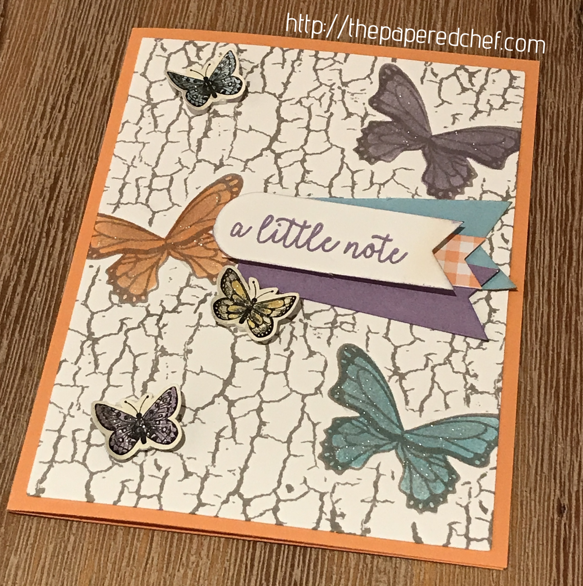 Butterfly Gala and Crackle Paint