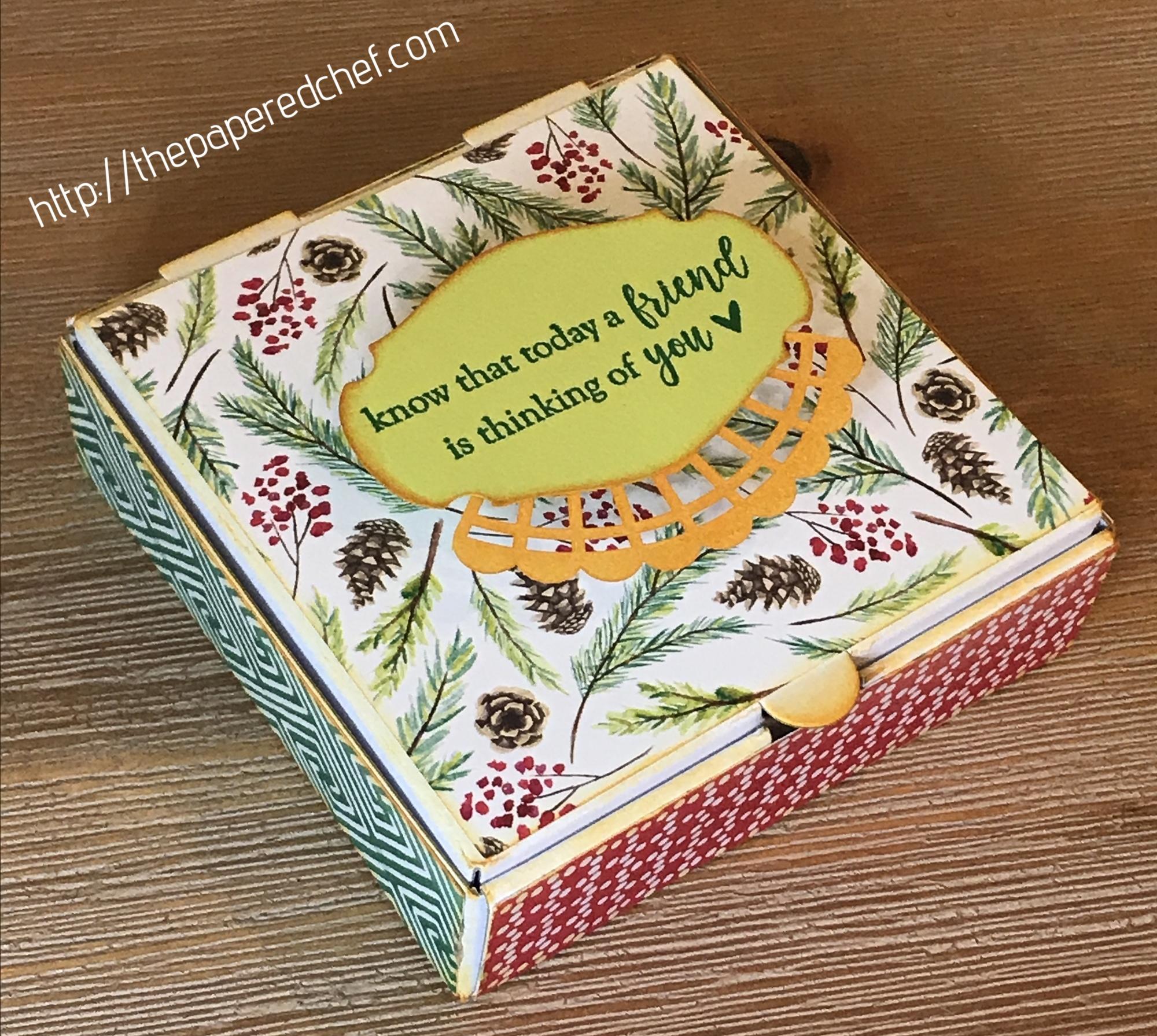 Stampin' Up! - Mini Pizza Box - Painted Seasons