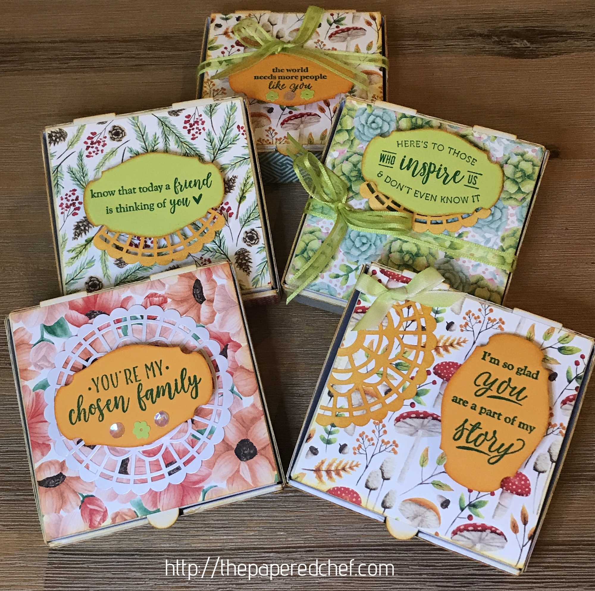 Stampin' Up! - Mini Pizza Boxes - Painted Seasons
