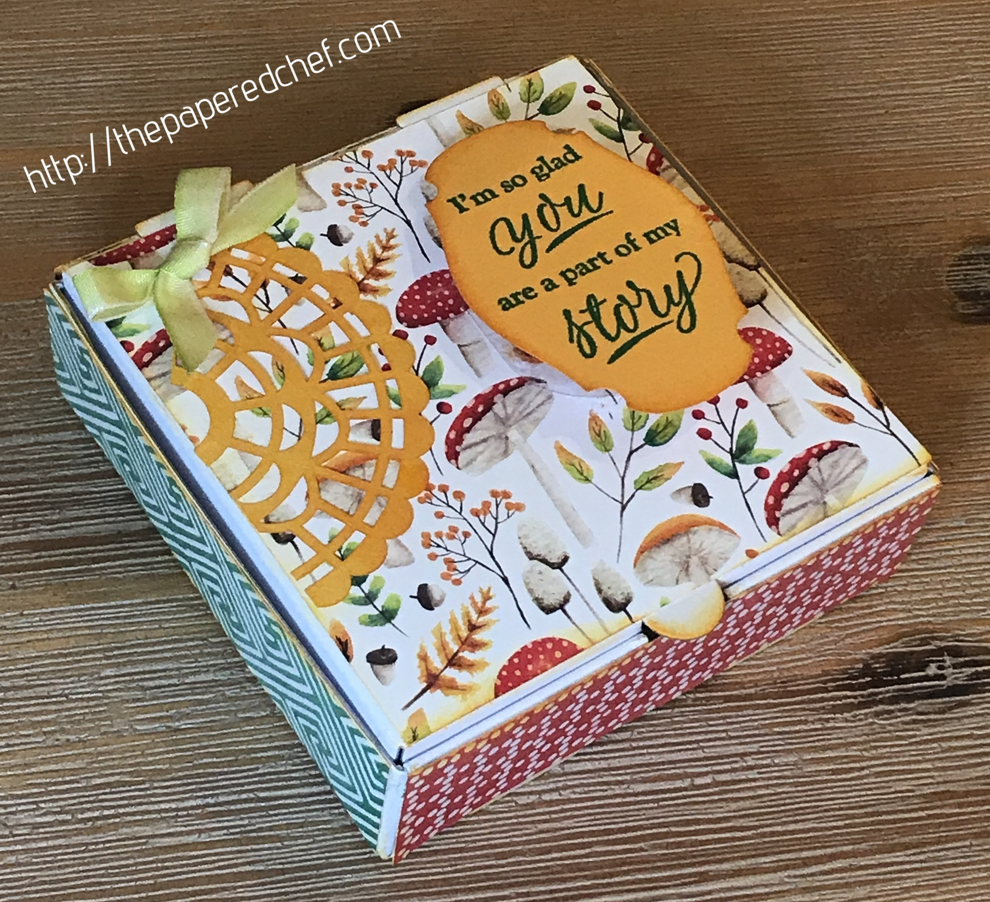 Stampin' Up! - Mini Pizza Box - Painted Seasons