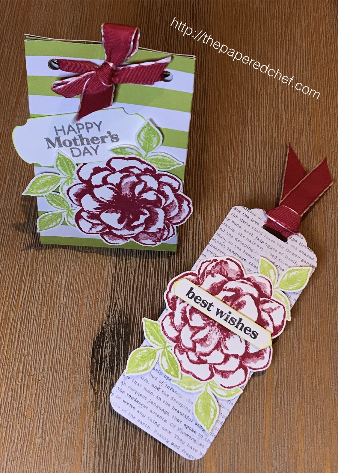 Sentimental Rose Thinking of You Bookmark