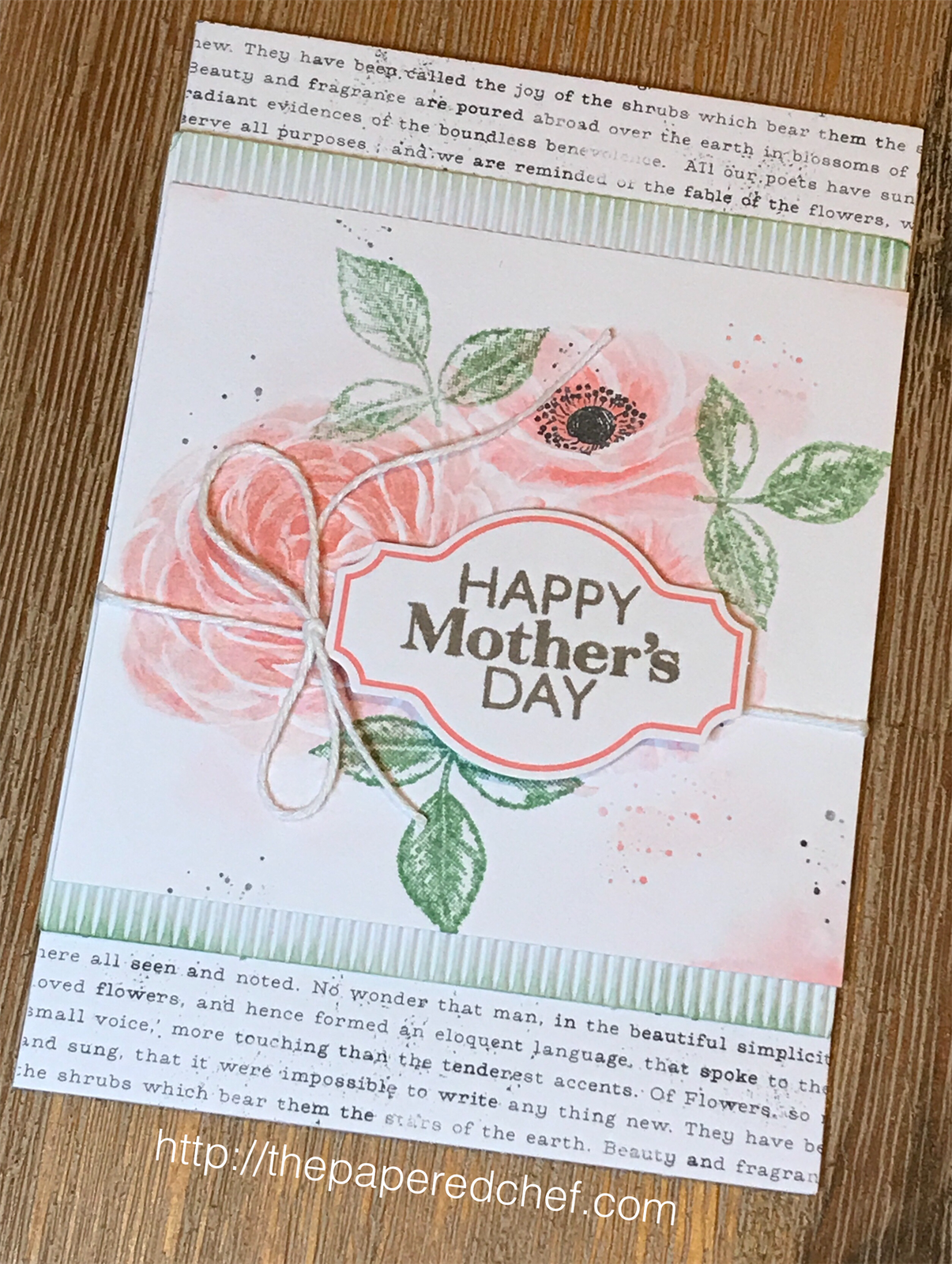 Sentimental Rose Mother's Day Card