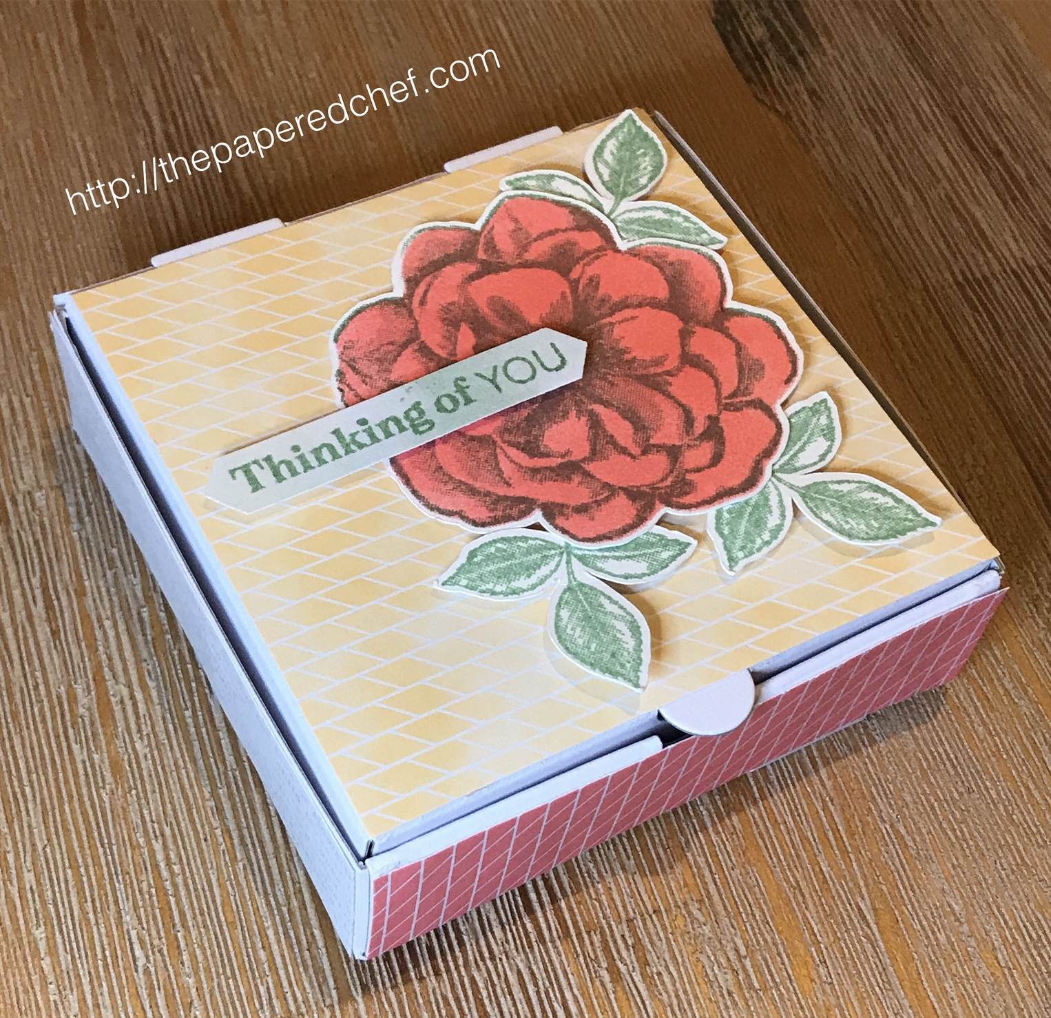 Sentimental Rose Mini Pizza Box