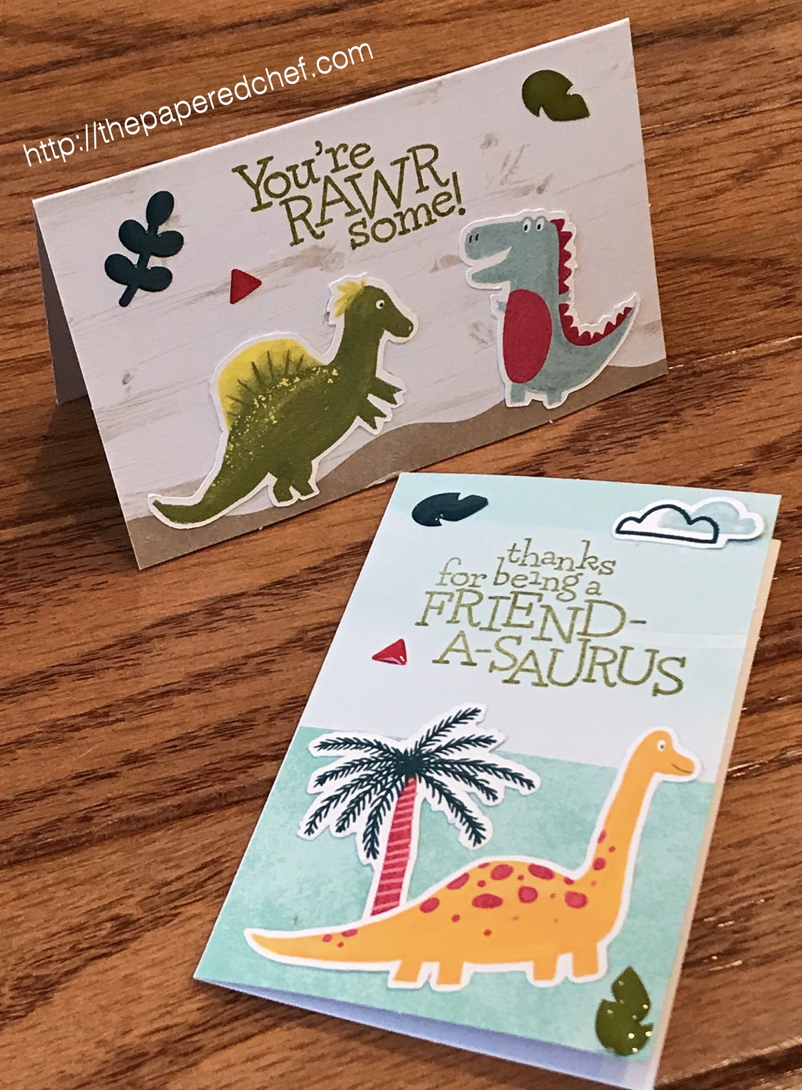 Dinoroar and Dino Days Cards by Stampin' Up! - A Little Smile Paper Pumpkin Kit