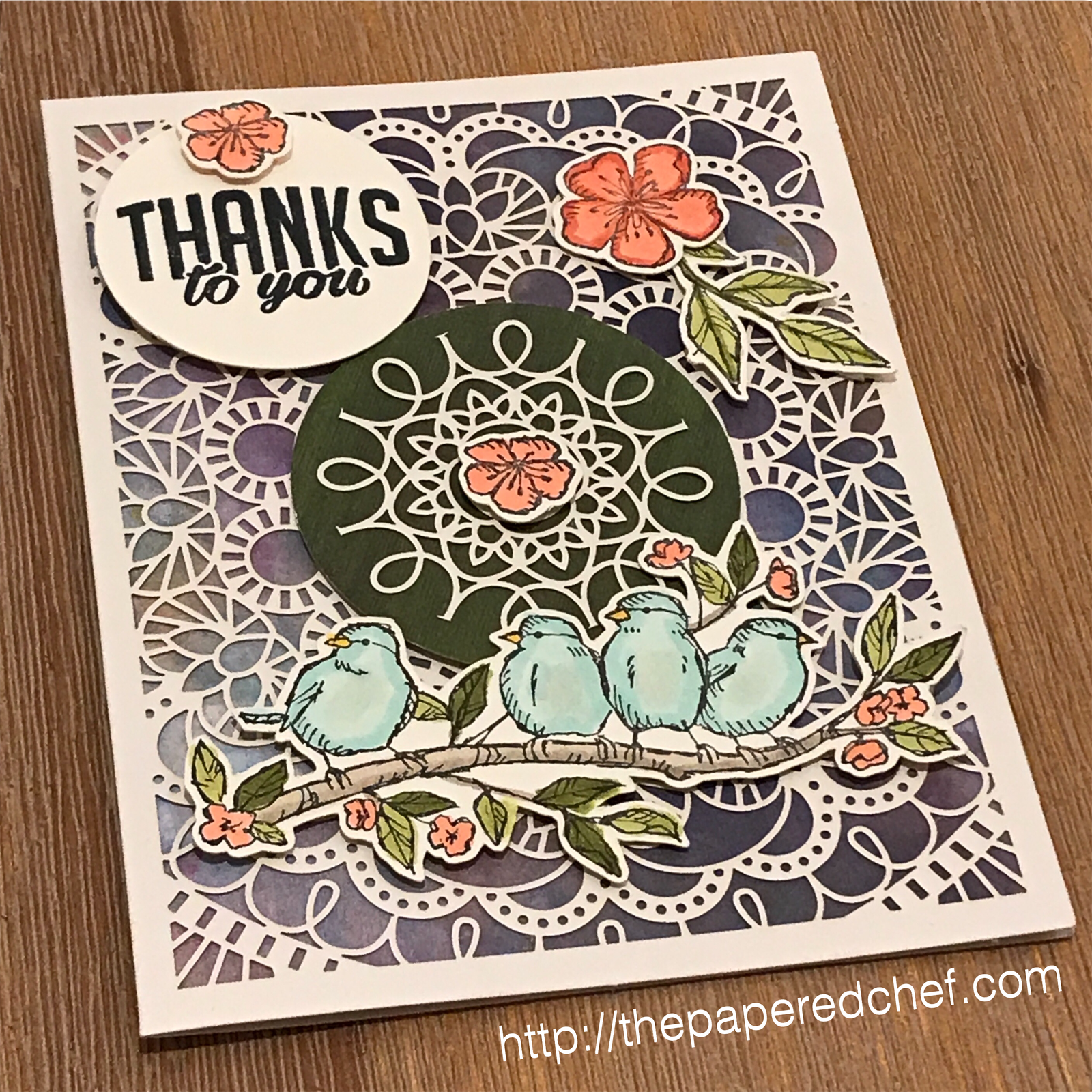 Free As a Bird stamp set by Stampin' Up! - Thank You Card