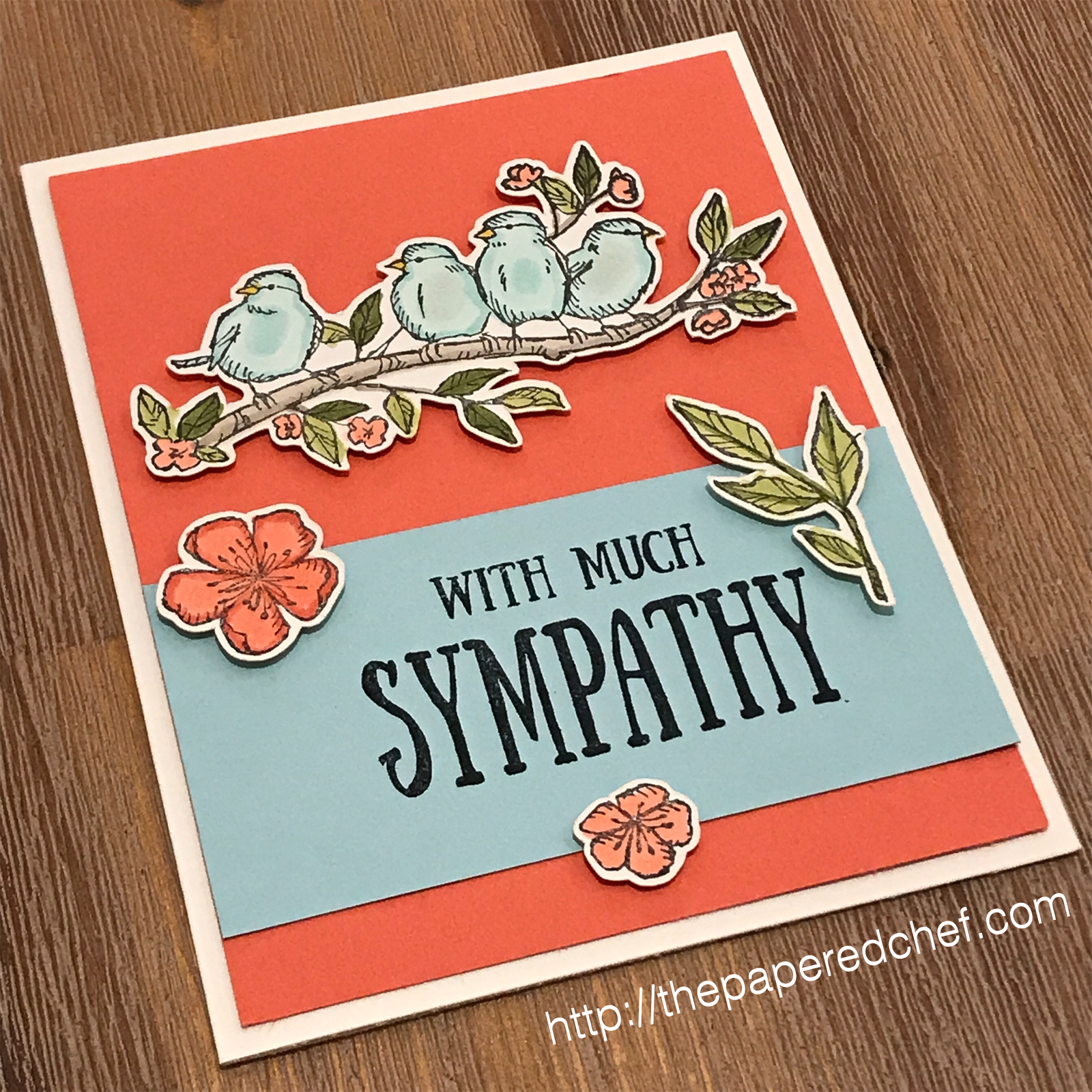 Free As a Bird stamp set by Stampin' Up! - Sympathy Card