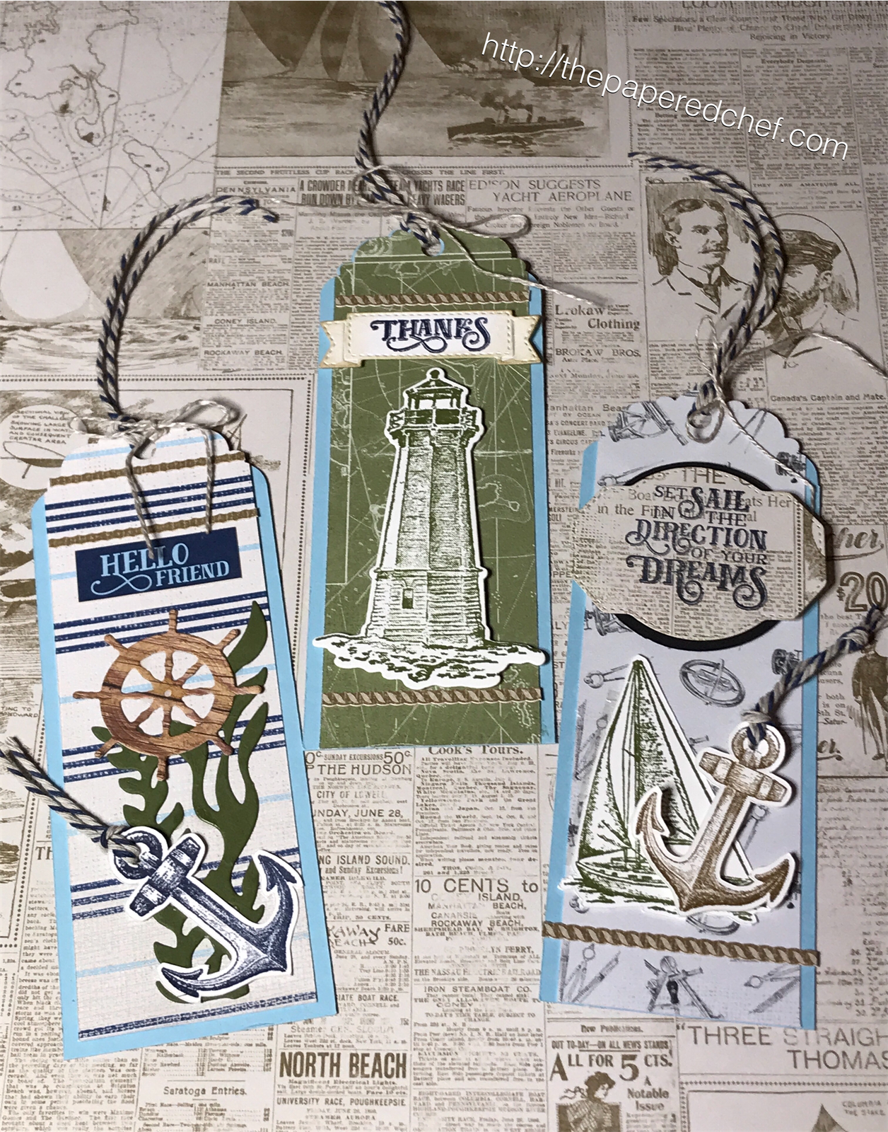 Come Sail Away Suite by Stampin' Up! - Bookmarks