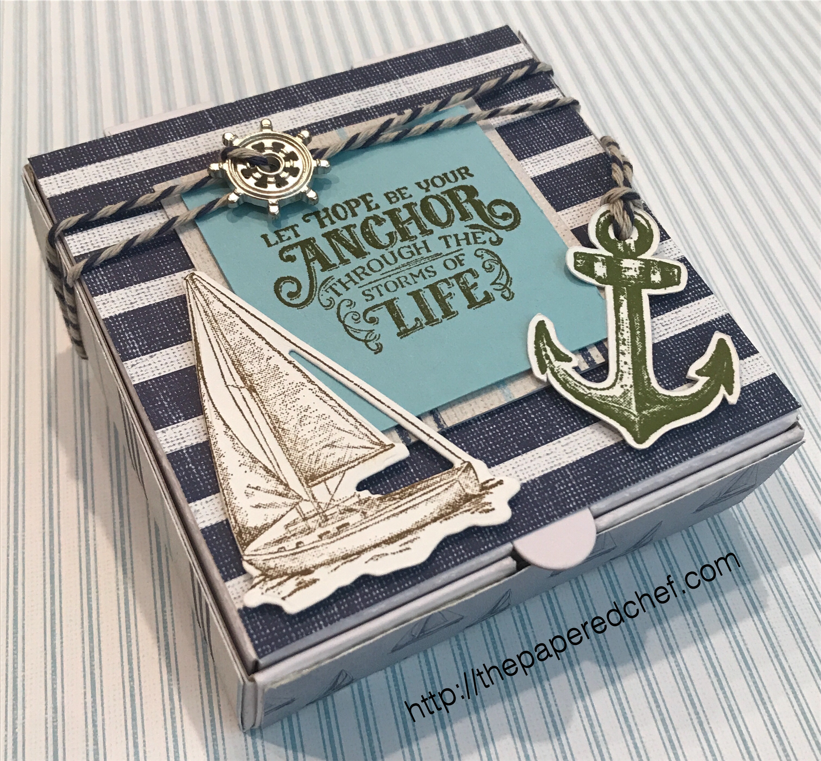 Come Sail Away Suite by Stampin' Up! - Mini Pizza Box