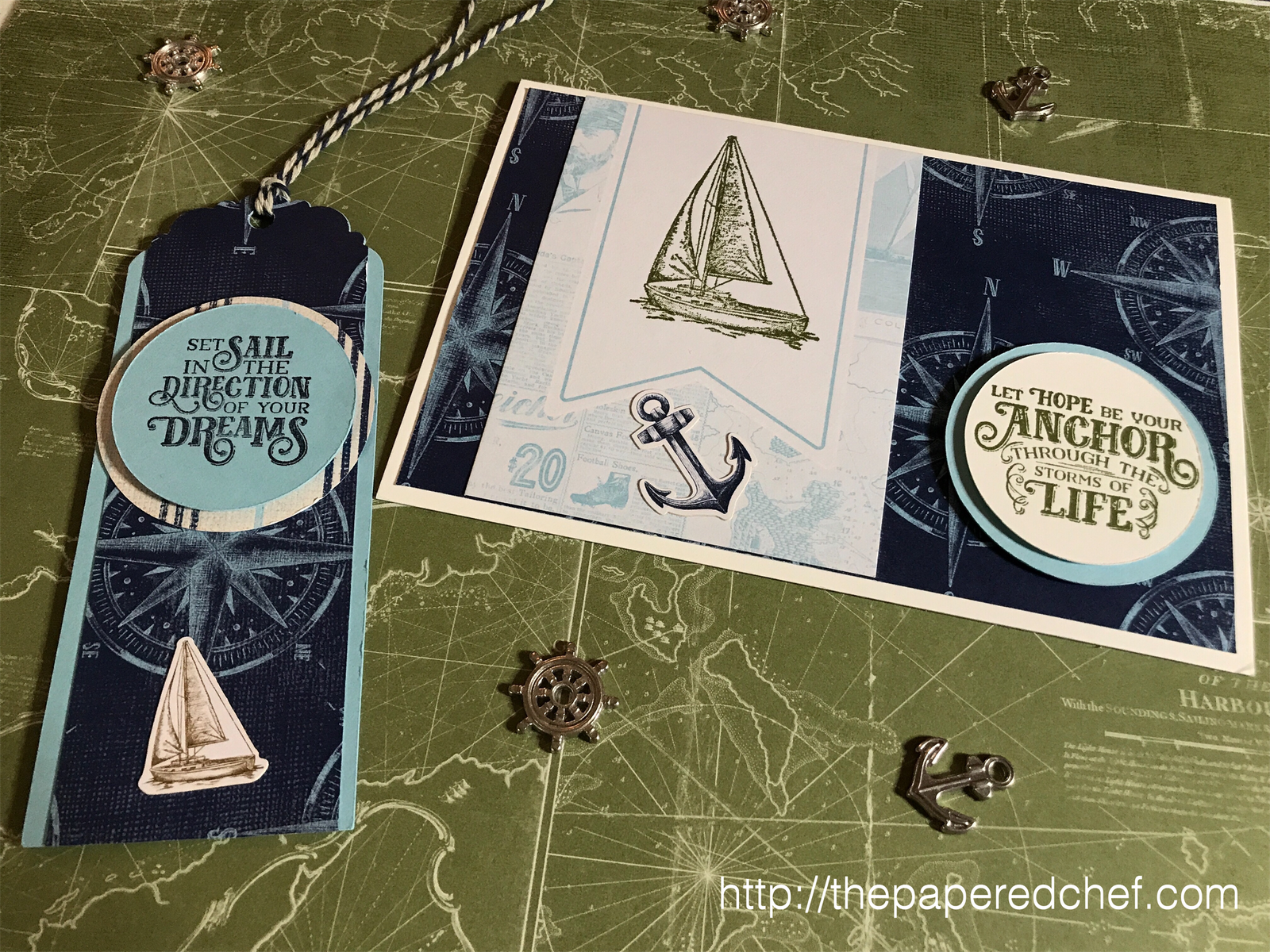 Come Sail Away Suite by Stampin' Up! - Sailing Home Stamp Set - Bookmark and Card