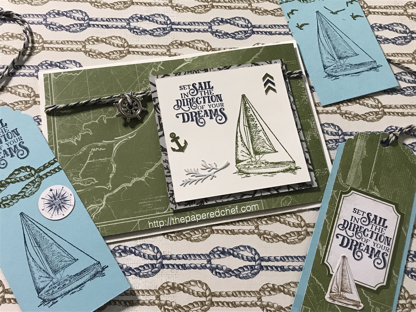 Come Sail Away Suite by Stampin' Up! - Bookmarks and Card