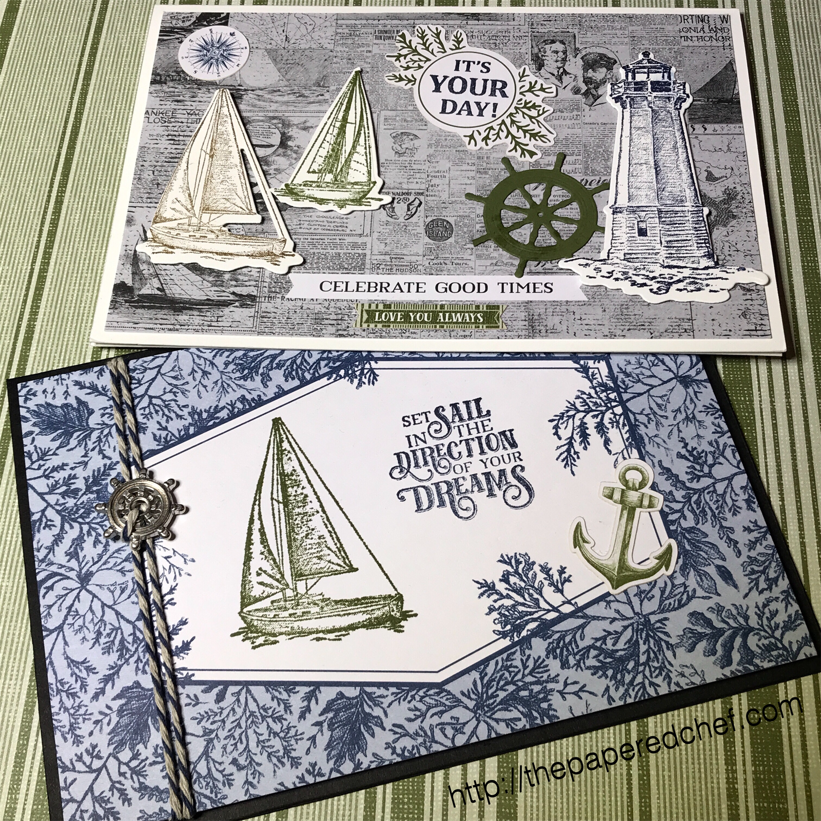 Come Sail Away Suite by Stampin' Up! - Large Memories & More Cards