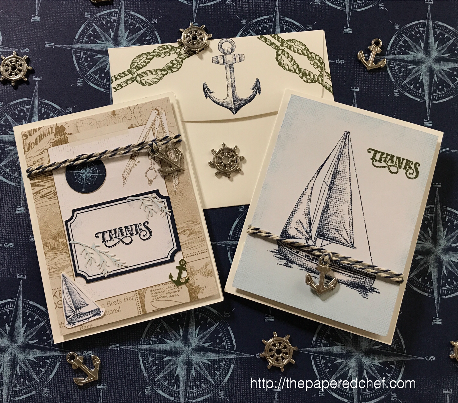 Come Sail Away Suite by Stampin' Up! - Note Cards