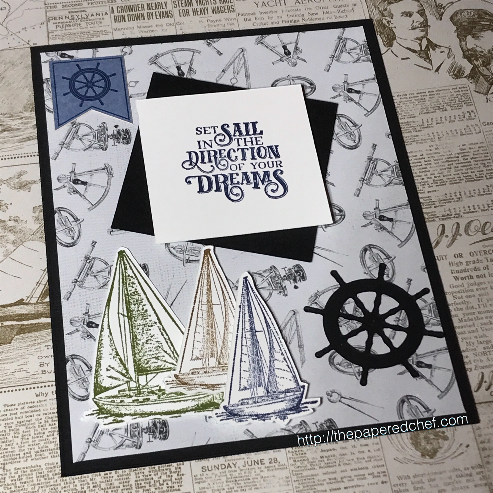 Come Sail Away Suite by Stampin' Up! - Set Sail Card