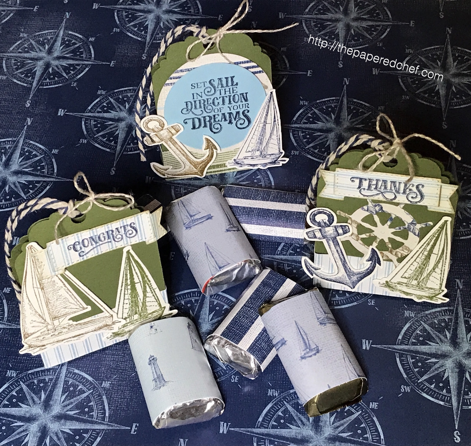 Come Sail Away Suite by Stampin' Up! - Tag Treat Holders