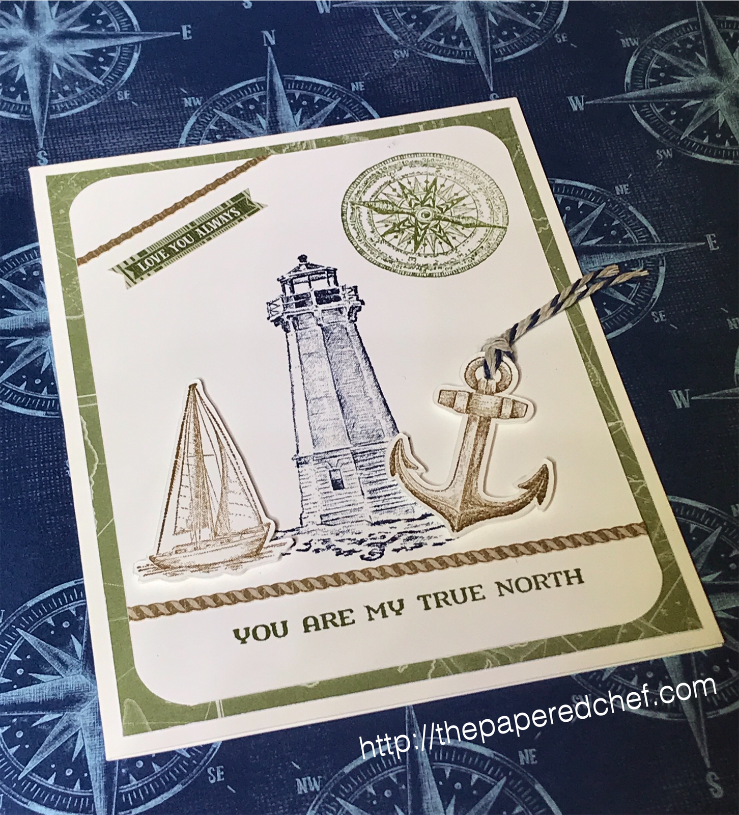 Come Sail Away Suite by Stampin' Up! - You are my True North Card