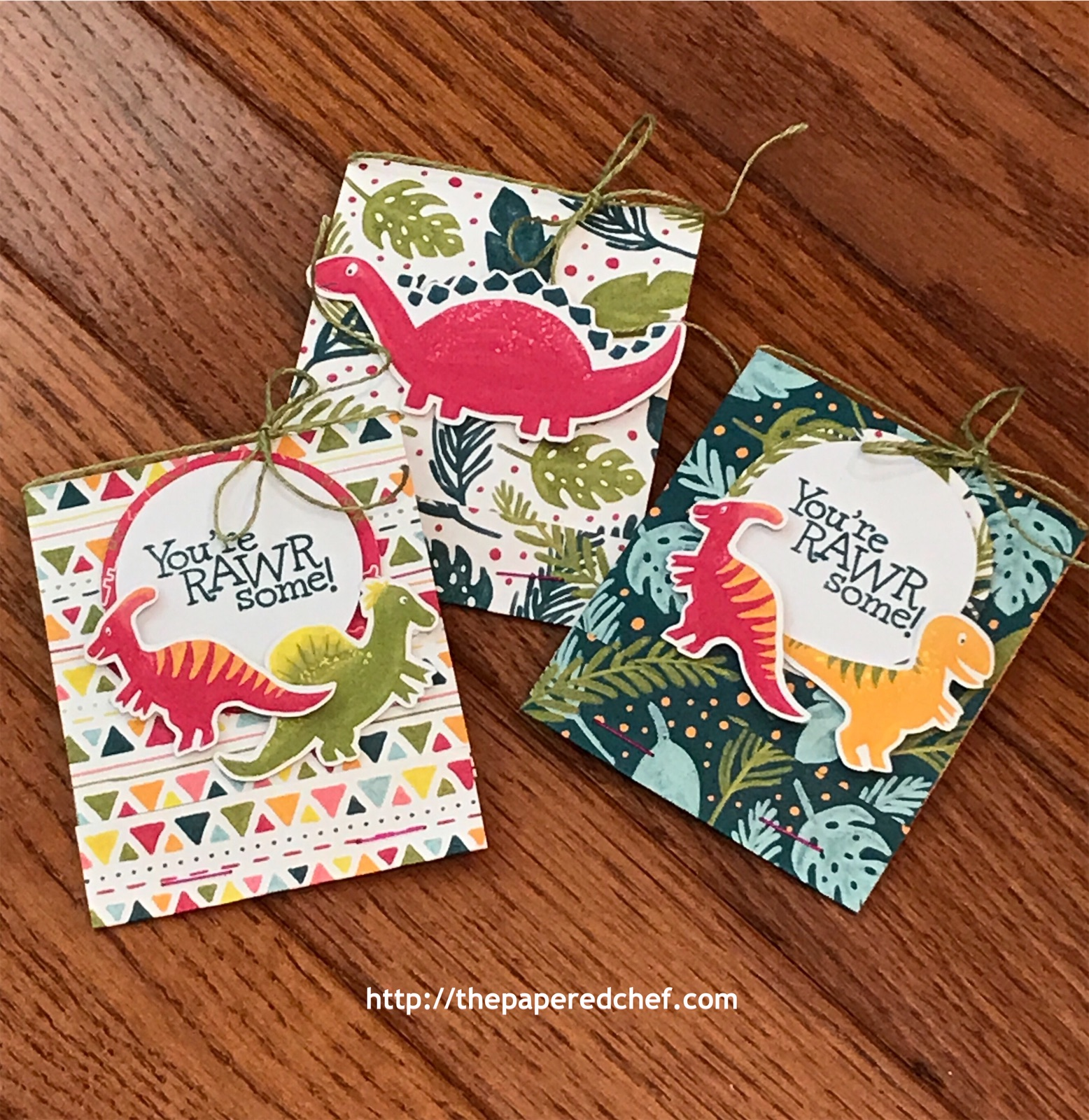 Dinoroar and Dino Days Tea Holders by Stampin' Up!