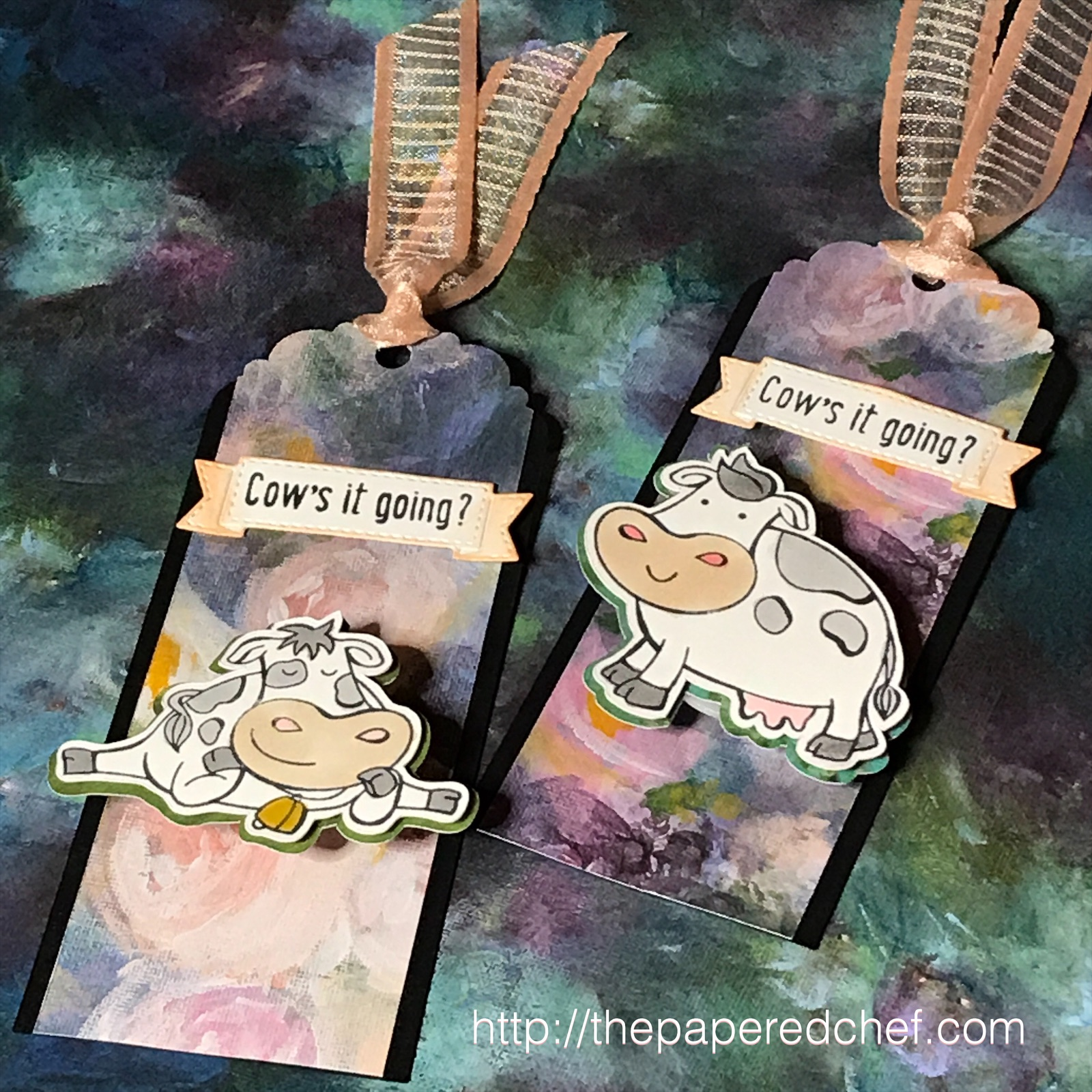 Over the Moon - Stampin' Up! Cow's It Going Bookmarks