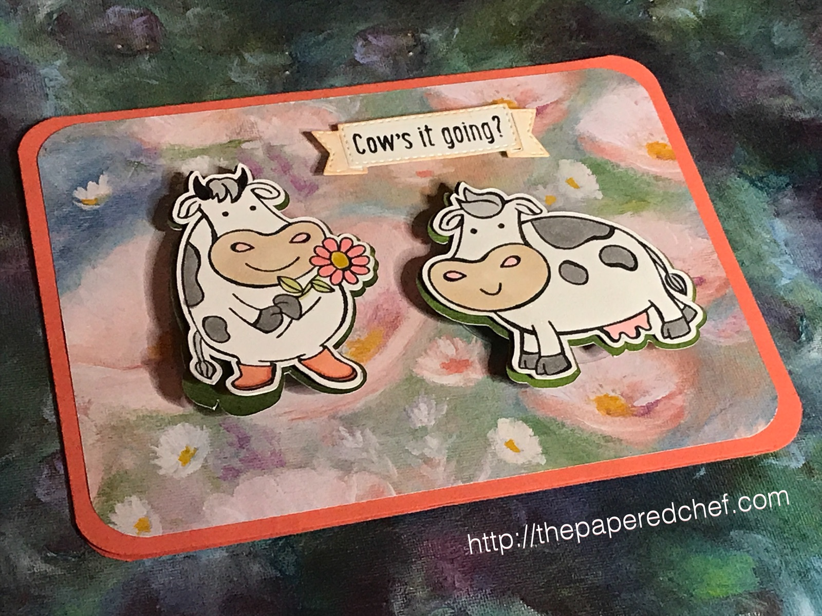 Over the Moon - Stampin' Up! Cow's It Going Card