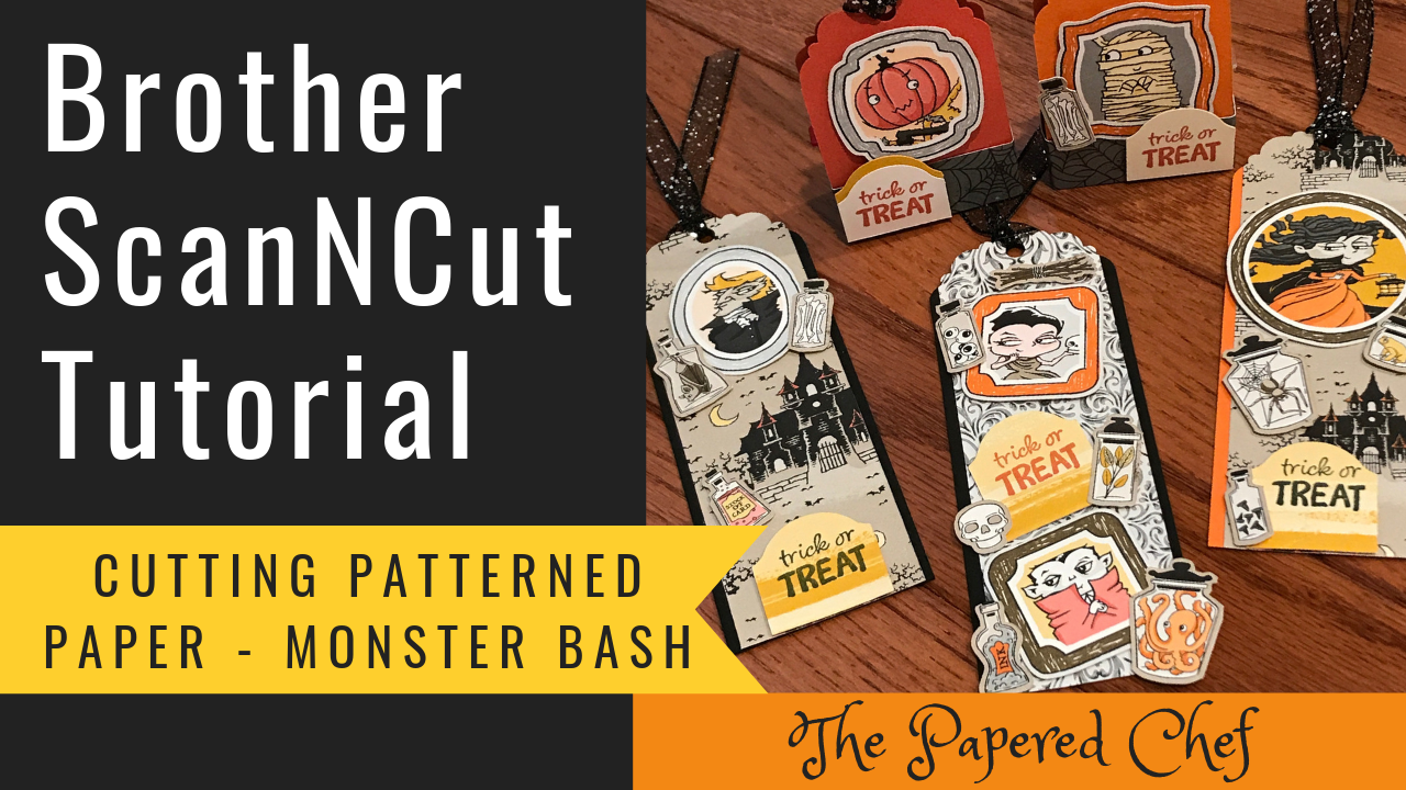 Brother ScanNCut - Cutting Patterned Paper - Monster Bash