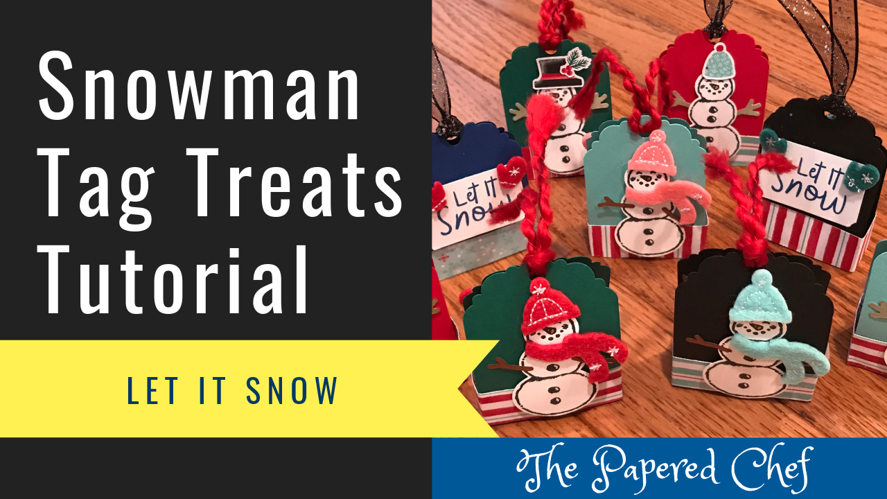 Snowman Tag Treats - Let It Snow - Snowman Builder Punch