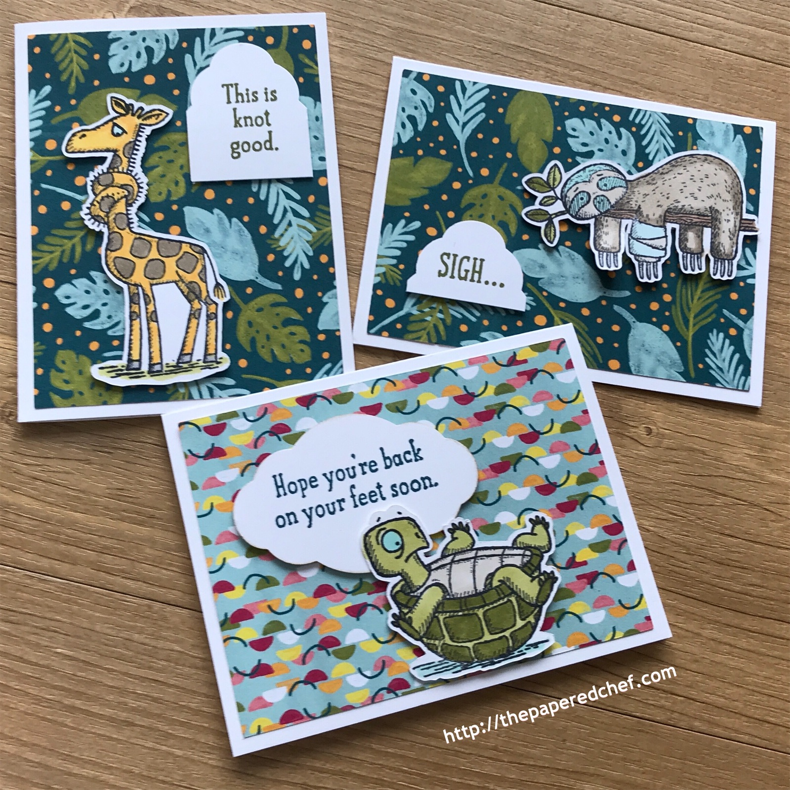 Back on your Feet Note Cards Stampin' Up!