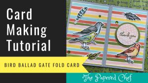 Gate Fold Card - Bird Ballad Suite