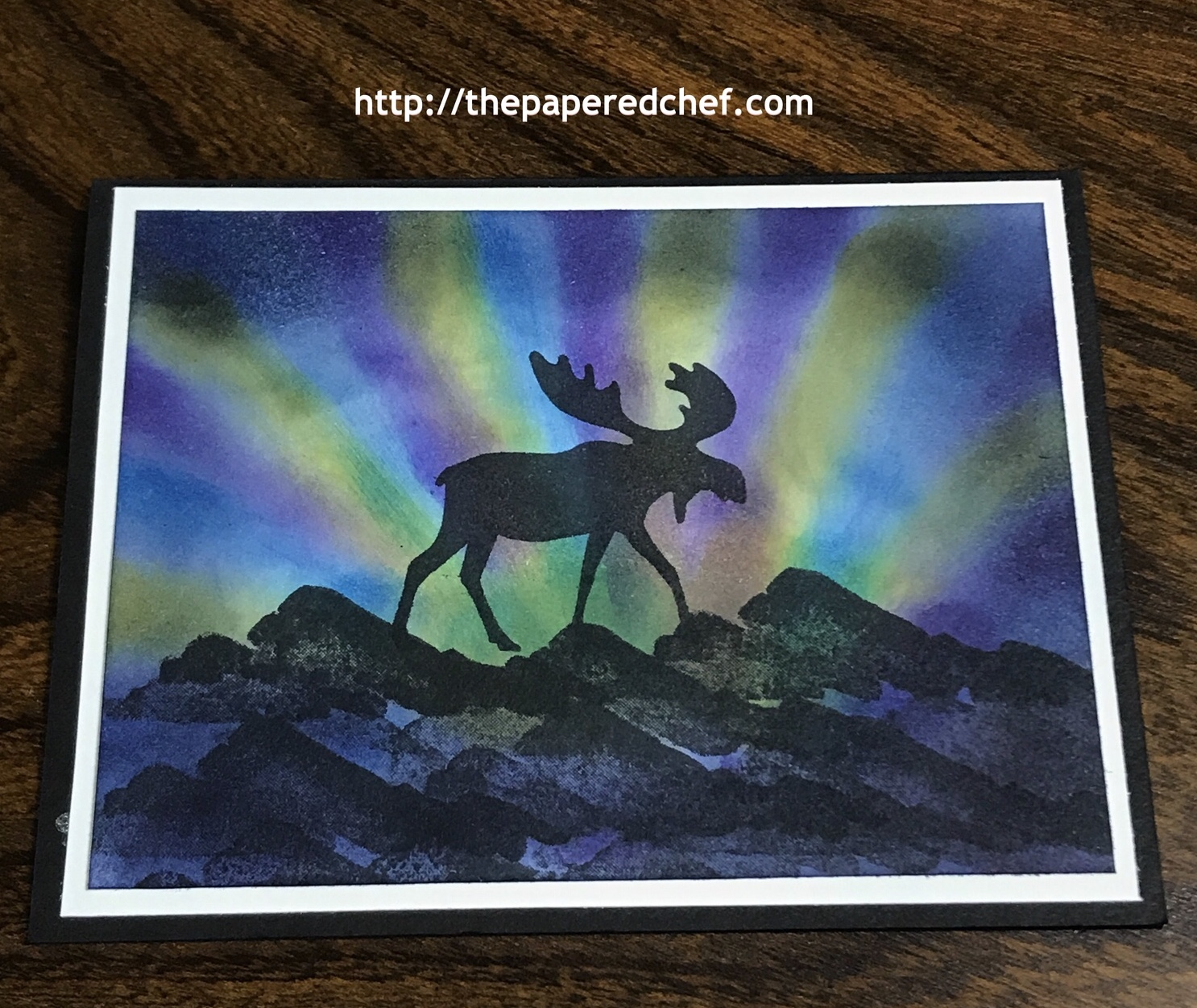 Merry Moose Northern Lights Card