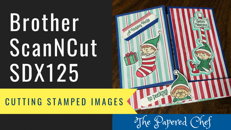Cutting Stamped Images - Elfie by Stampin' Up!